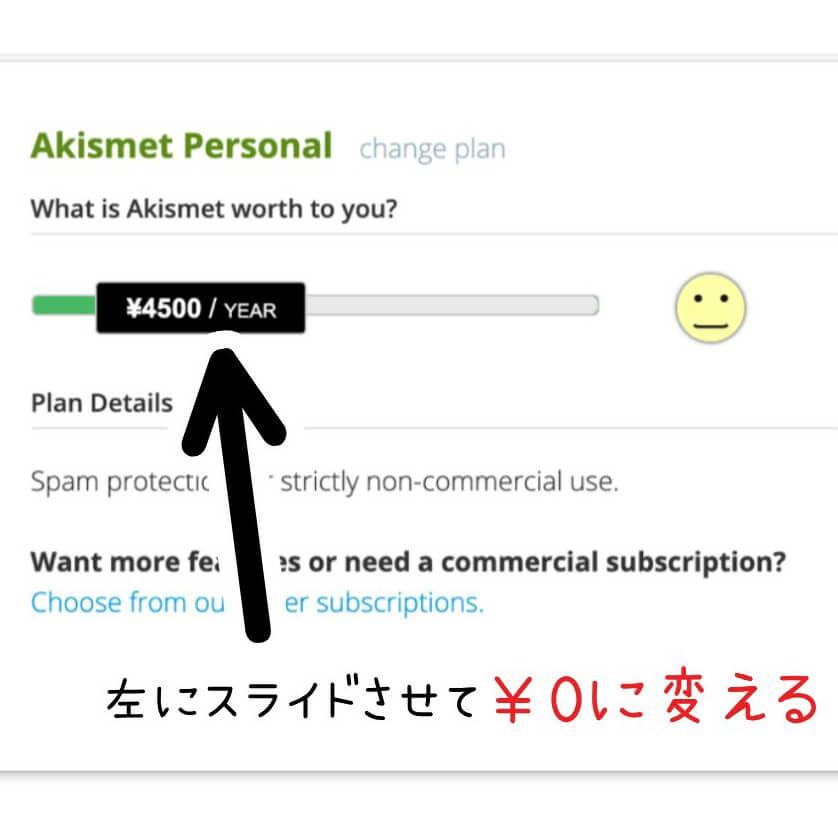Akismet Anti-Spam (アンチスパム)設定